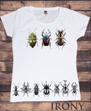 Women's Tee Creepy Crawlers- Insects Flies Bugs Print TS1241