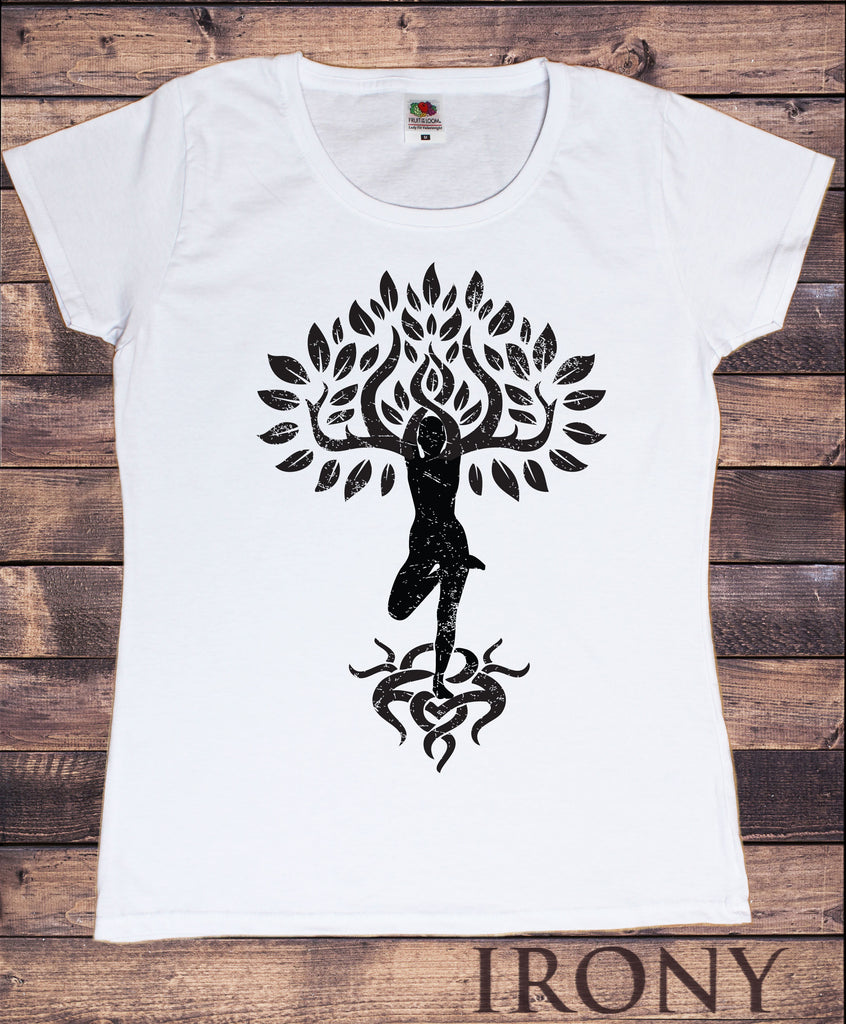 Women's T-Shirt Yoga Tree Buddha Yoga Meditation Flower zen Tree TS1242