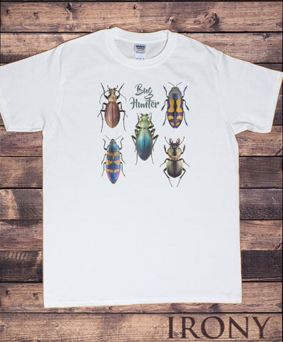 Men's Tee Creepy Crawlers- Insects 'Bug Hunter' Flies Bugs Print TS1249