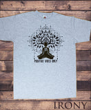 Men's T-Shirt 'Positive Vibes Only' Meditation Yoga Tree Peace Buddha Print TS1252