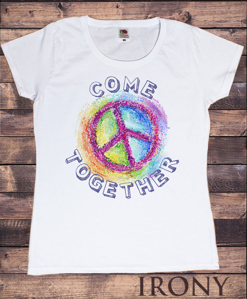 Women's T-Shirt Come together  Colourful Splatter Print TS1280