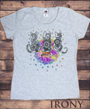Women's T-Shirt Ethnic Cats Colourful flowery drops zen peace TS1337