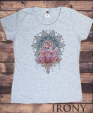 Women's Tee Aztec Flower Lotus Om Meditation Sketch effect Print TS1347