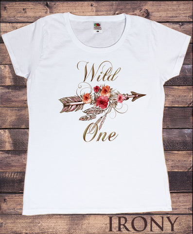 Women's T-Shirt Wild One Arrow and Roses break free dreamer Print TS1435