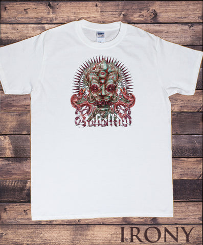 Mens T-Shirt Ethnic Tribel Rebellion Face Distressed Look Print TS1538