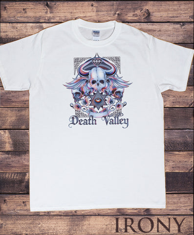 Men's T-Shirt Framed Skulls Gothic Death Valley Print TS1539