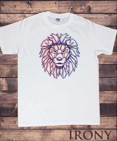 Men's T-Shirt Geometric Lion Design- Lion Abstract Print TS1630