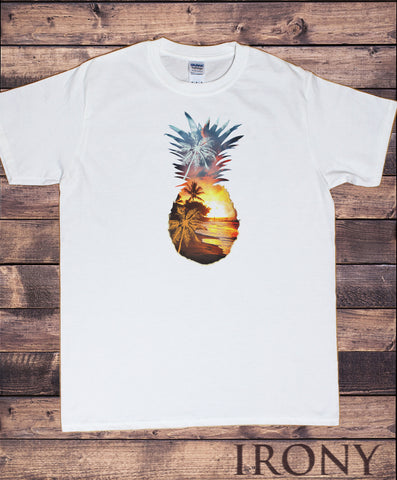 Mens T-shirt with Pineapple Dreams Surf Soul Tropical Pineapple Print TS1641