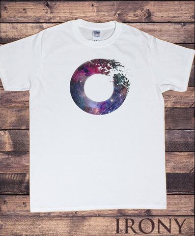 Mens T-shirt Abstract SPACE Galaxy Universe Destruction design Print TS1642