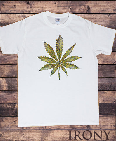 Men's T-Shirt Cannabis Khalifa Prosto Medical Marijuana Pattern Print TS1830