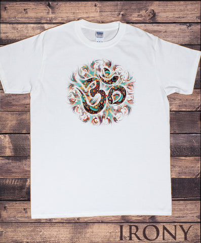 Mens T-Shirt Om Yoga Chakra Meditation India Zen-Print TS1844