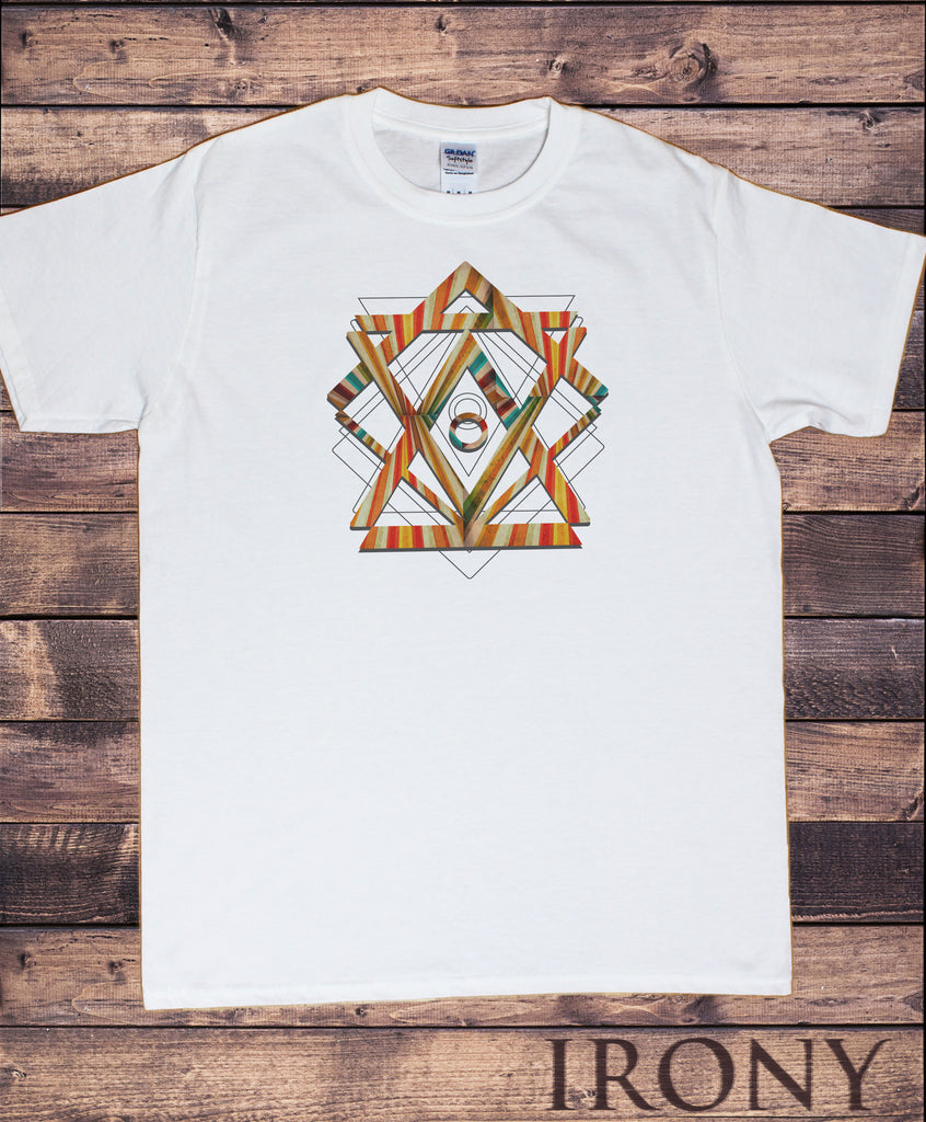 Mens T-shirt Geometric Abstract shapes design Print TS1855