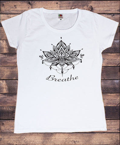 Women's T-Shirt 'Breathe' Ethnic Aztec Design India Print TS1890