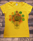 "Women's ""Flower Of Life"" Buddha Chakra Symbols Geometric Design TS796"