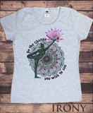 Women's T-Shirt 'Be The Change You Wish To See' Yoga Pose Lotus Zen Hobo Print TS951