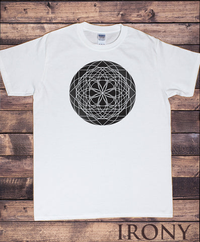 Men's T-Shirt Circle illusional Fusion Geometric Shapes pattern Print TS954