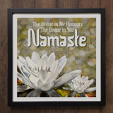 Irony Canvas/Giclee Prints Set of Three Framed Art, Omm Namaste, Buddha Meditation Zen Unique Design