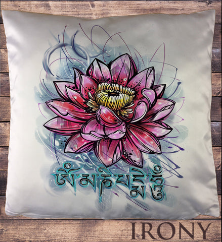 Irony Cushion Cover 34x35cm Beautiful Lotus Tropical Floral Zen Ethical Cushion Cover CUS837