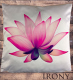 Irony Cushion Cover Exclusive Sublimation Print Buddha Zen Lotus Floral Namaste  Cushion Cover CUS03