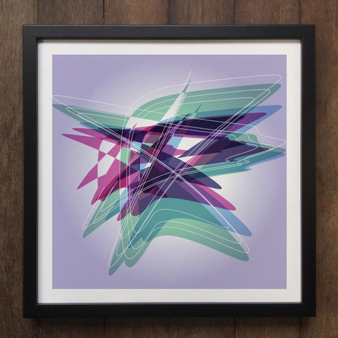 Irony Framed Art Abstract Colourful shapes Framed Art Print Geo-ART100