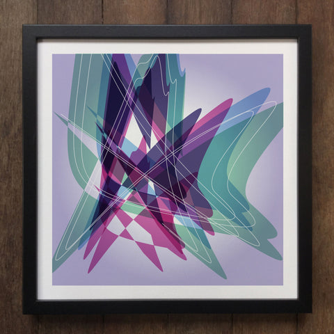 Irony Framed Art Abstract Colourful shapes Framed Art Print Geo-ART101