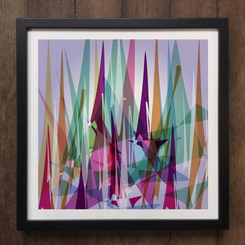 Irony Framed Art Abstract Colourful shapes Framed Art Print Geo-ART102