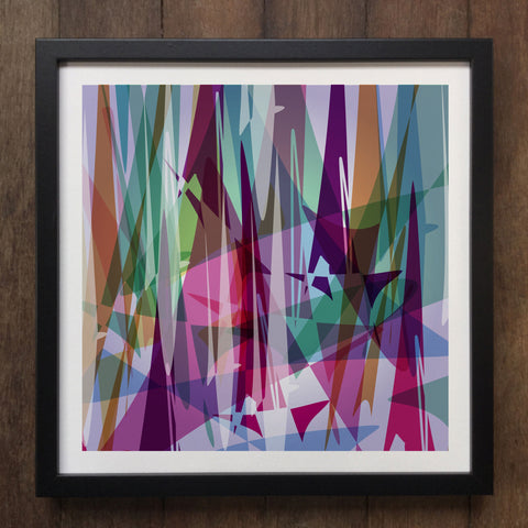 Irony Framed Art Abstract Colourful shapes Framed Art Print Geo-ART103