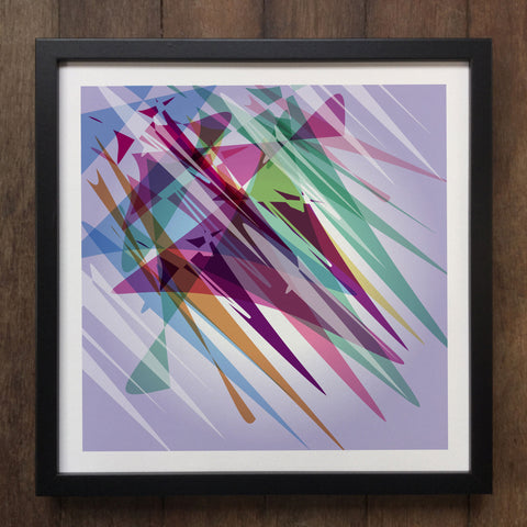 Irony Framed Art Abstract Colourful shapes Framed Art Print Geo-ART105