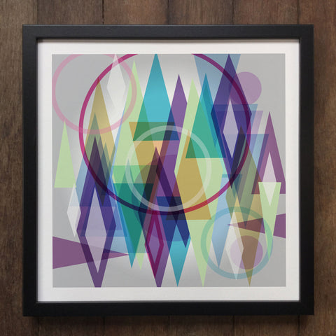 Irony Framed Art Abstract Colourful shapes Framed Art Print Geo-ART92