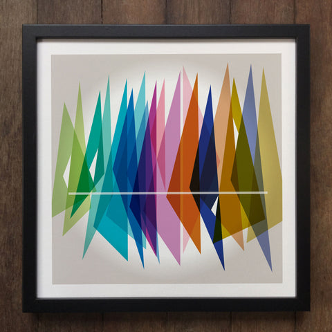 Irony Framed Art Abstract Colourful shapes Framed Art Print Geo-ART97