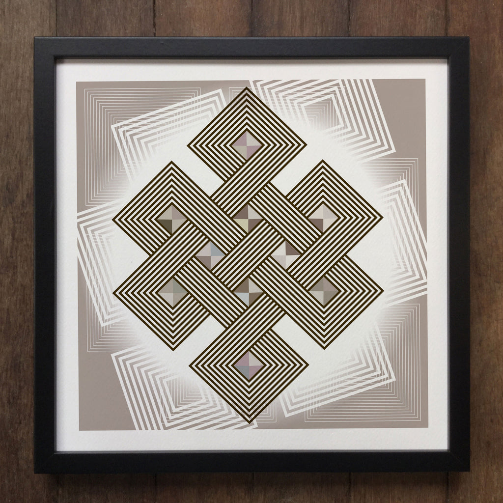 Irony Framed Art Abstract Geometrical 3d shapes Framed Art Print Geo-ART93