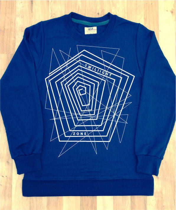 Irony Hoodies & Sweats Mens Navy Sweatshirt Twilight White Graphic Tshirt Tumblr Hipster Hype Swag