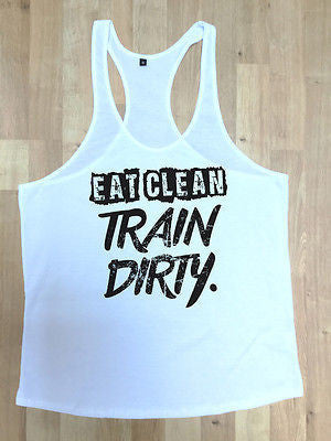 Irony Other Men's Clothing MMA Gym Bodybuilding Motivation Vest Best Workout Clothing Training Train Dirty