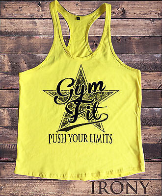 Irony Other Men's Clothing PUSH YOUR LIMITS Motivation Vest, Workout Novelty Clothing