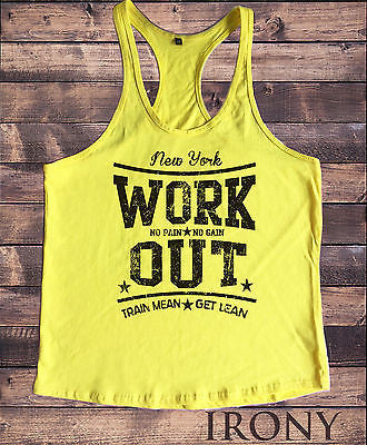 Irony Other Men's Clothing WORK OUT NY- Motivation Vest, Workout GYM Clothing
