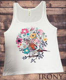 Irony T-shirt Jersey Tank Top British Indie Bird Watching,Twitchers, Birds Print JTK587