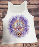 Irony T-shirt Jersey Tank Top Change is the only consultant- Hamsa Hand of Fatima OM Graphical JTK826