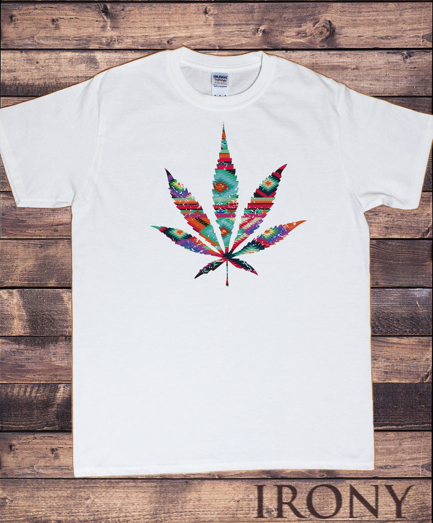 Irony T-shirt Men's White T-Shirt Dope Chef Cannabis 420 Wiz Khalifa Prosto Medical Marijuana Aztec Print TSI1