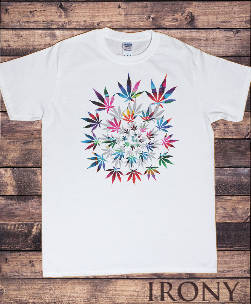 Irony T-shirt Men's White T-Shirt Dope Chef Cannabis 420 Wiz Khalifa Prosto Medical Marijuana Spiral Print TSI9