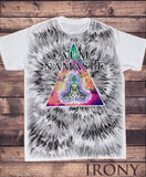 Irony T-shirt Men's White T-shirt Om Aum Jade Flame Buddha Meditation Print SUB5912