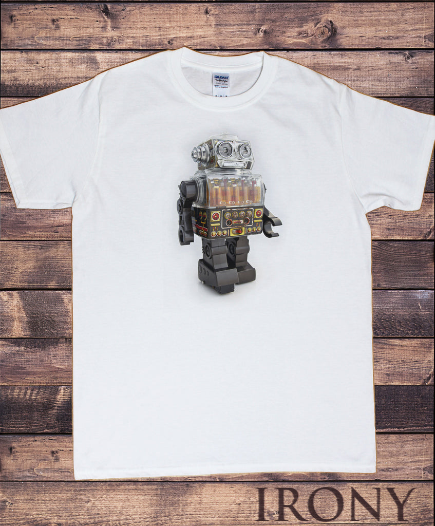 Irony T-shirt Men's White T-ShirtTokyo T-shirt Tin Robot  Godzilla Top Fashionable Toy Funny Japanese Yolo TSN8