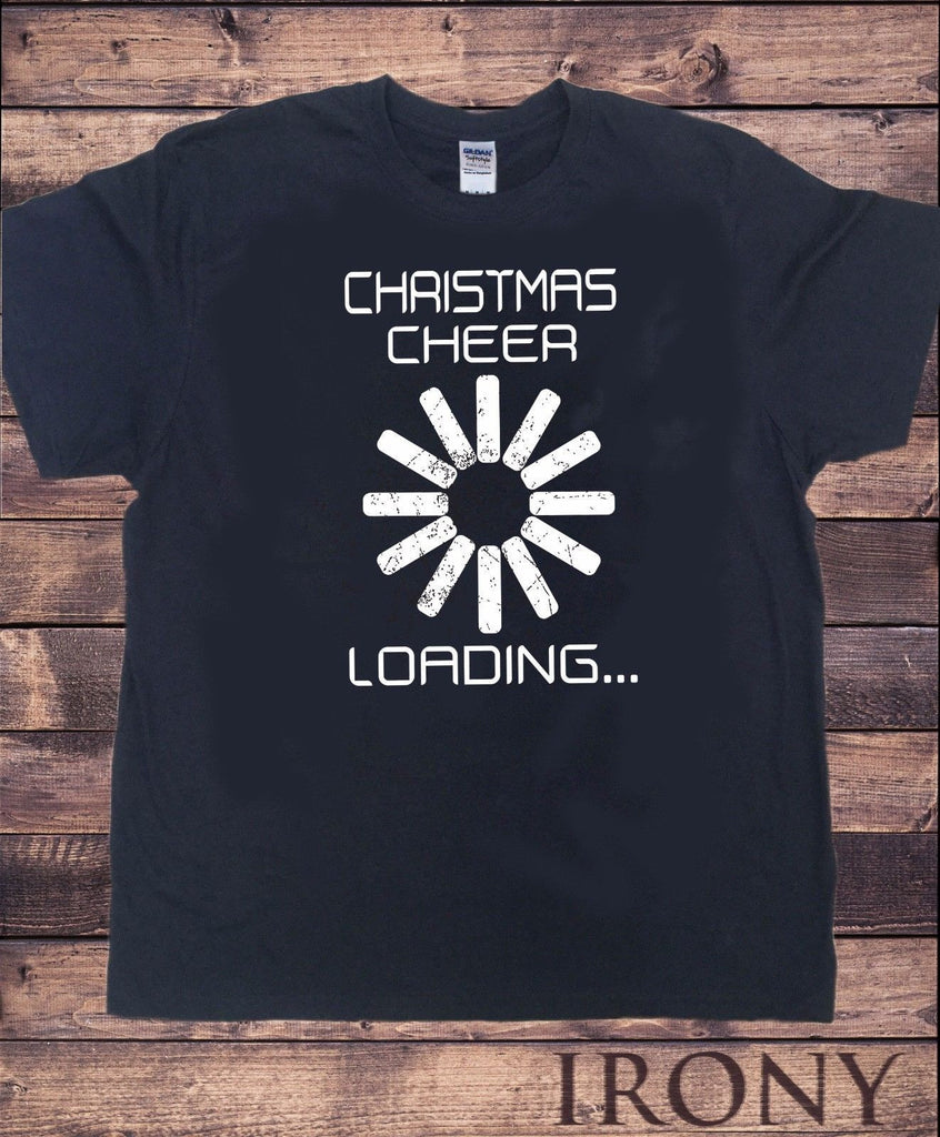 Irony T-shirt Mens Black T-Shirt Christmas Cheer Loading Amazing Quality TS231