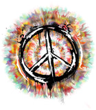 Irony T-shirt Mens Hipster Peace Sign T-shirt Military CND Dye Peace Logo Retro TSQ2