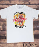 Irony T-shirt Mens T-shirt- Wales Cymru Feel The Fire Welsh Dragon Novelty Print