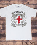 Irony T-shirt Mens White T-shirt- England Always Loyal St George's Flag and Euro 2016 TS102