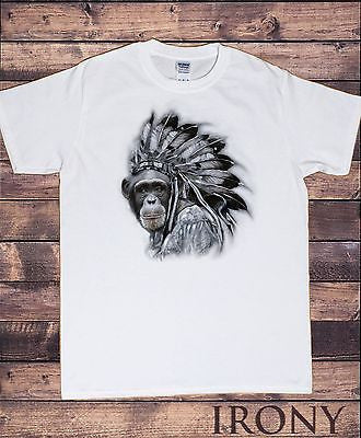 Irony T-shirt Mens White T-shirt Young Cheif  Print - Fashion/Graphic T-shirt