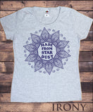 Irony T-shirt S / Grey Women's T-Shirt Made From Star Dust Flowery icon Print TS727