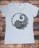Irony T-shirt S / Grey Womens T-Shirt Yin Yang- You are the ying to my yang- Flowery love Print TS629