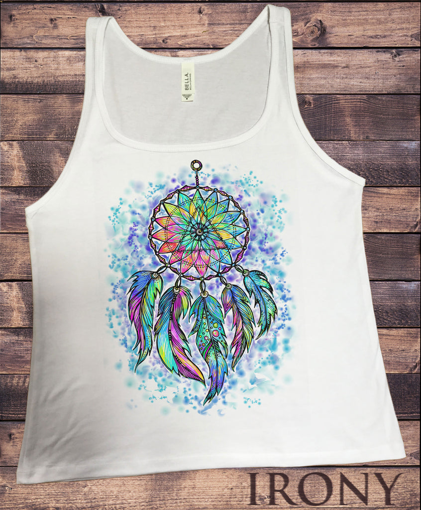 Irony T-shirt S Jersey Tank Top Dream Catcher Tribal Red Indian Native American Feathers Effect JTK859