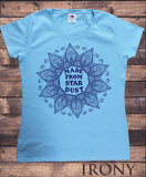 Irony T-shirt S / Light Blue Women's T-Shirt Made From Star Dust Flowery icon Print TS727